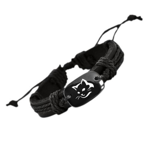 Black Cat Leather Bracelet
