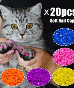 20pcs Silicone Soft Cat Nail Caps