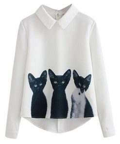 Casual Cat Blouse