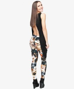 3D Cats Full Print Leggings