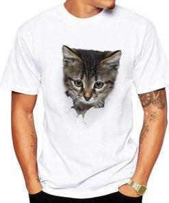 3D Cute Cat Breaks Free T-shirt