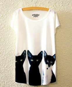 Black Kitty Cat Shirt