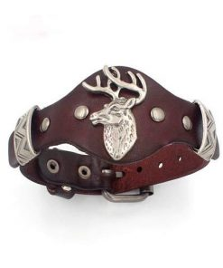Adjustable Leather Deer Hiphop Watchband