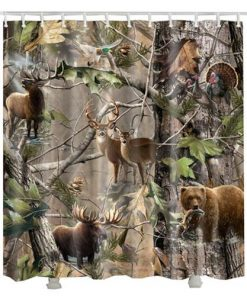 Animals Tree Pattern Shower Curtain