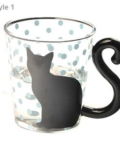 Black Cat Glass Mug