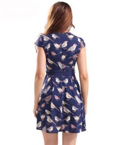 Bird in Sassy Sash Dress