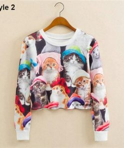 Cat Casual Pullover Sweatshirt