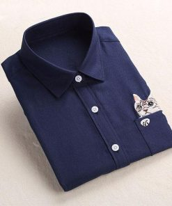 Cat Embroidery Long Sleeve