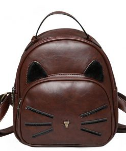 Cat Vintage Leather Bag