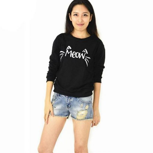 Cat MEOW Pullover Shirt