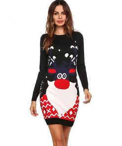 Bodycon Long Sleeve Christmas Dress