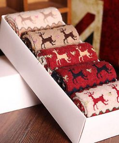 Christmas Thermal Deer Socks