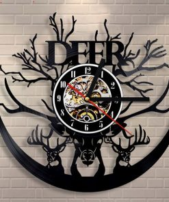 Classic Deer Record Wall Clock