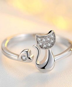 Cat Love Open Ring