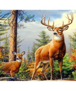 Beautiful 5D Sika Deer Embroidery Diamond Stitch Kit