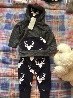 Deer Hoodie 2Pcs Infant Clothing photo review