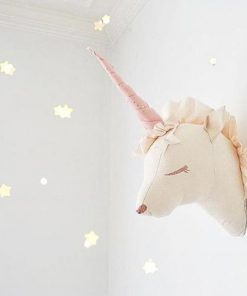 Nordic Unicorn Wall Mount Stuffed Toy