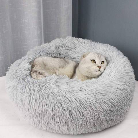 Tail love white Cat rounded bed