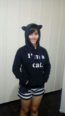 I'm a Cat Hoodie photo review