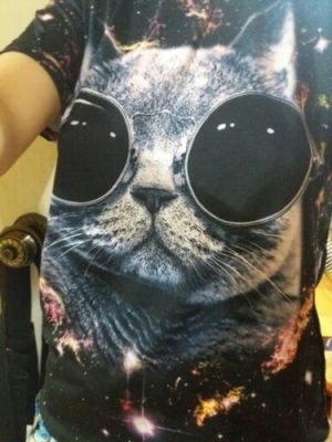 3D Awesome Cat T-shirt photo review