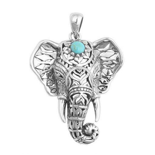 Boho Turquoise Elephant Necklace