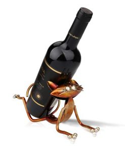 Yoga Cat Wine Rack Metal Wine Holder
