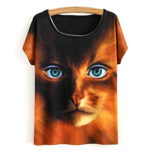Cat Summer Short Sleeve Tshirt