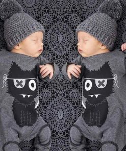 Cartoon Cat Long Sleeve Baby Infant Onesie