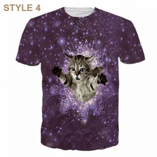 3D Awesome Cat T-shirt